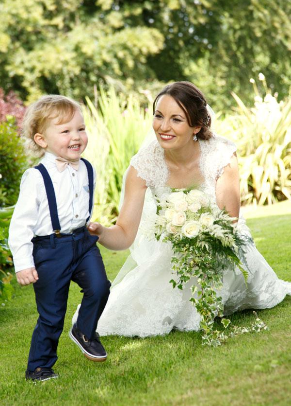 bride-and-cute-son